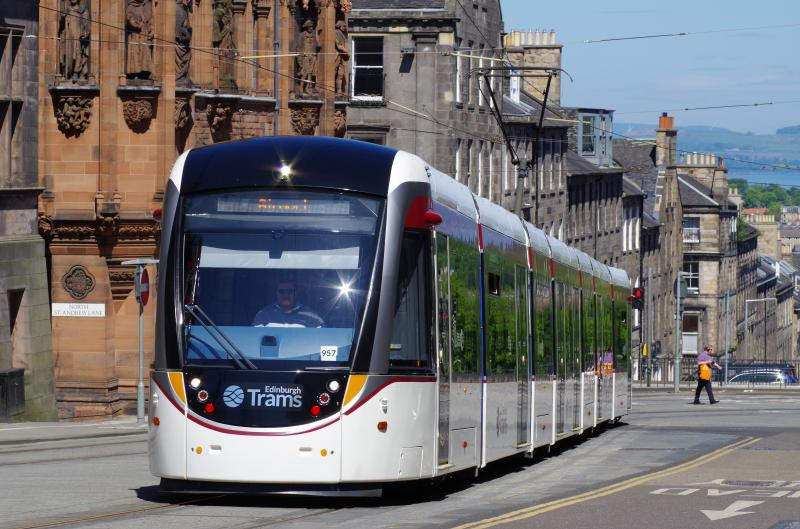 Edinburgh Trams South St Andrew Street