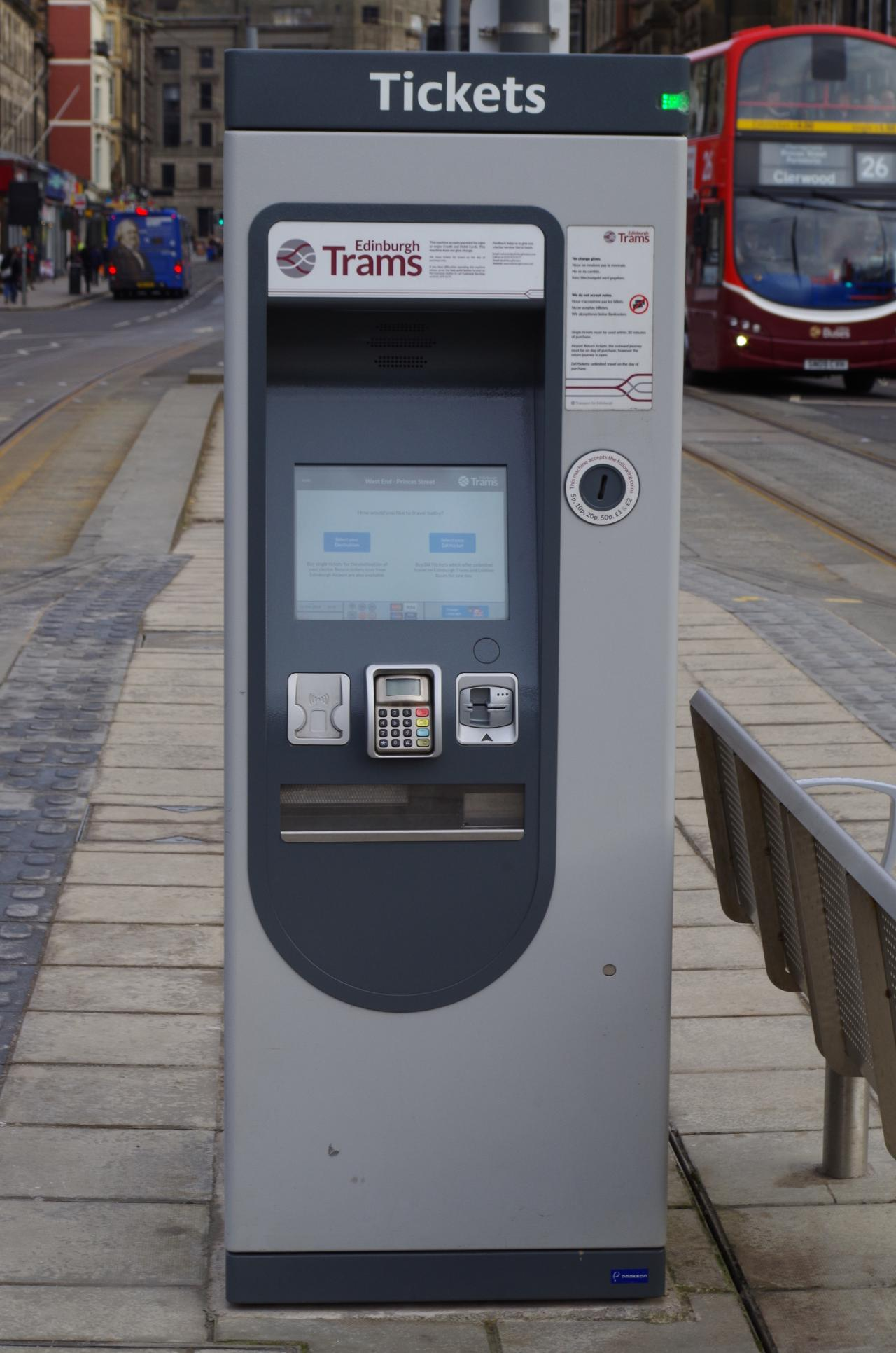 Edinburgh Trams Club Ticket Vending Machines Edinburgh