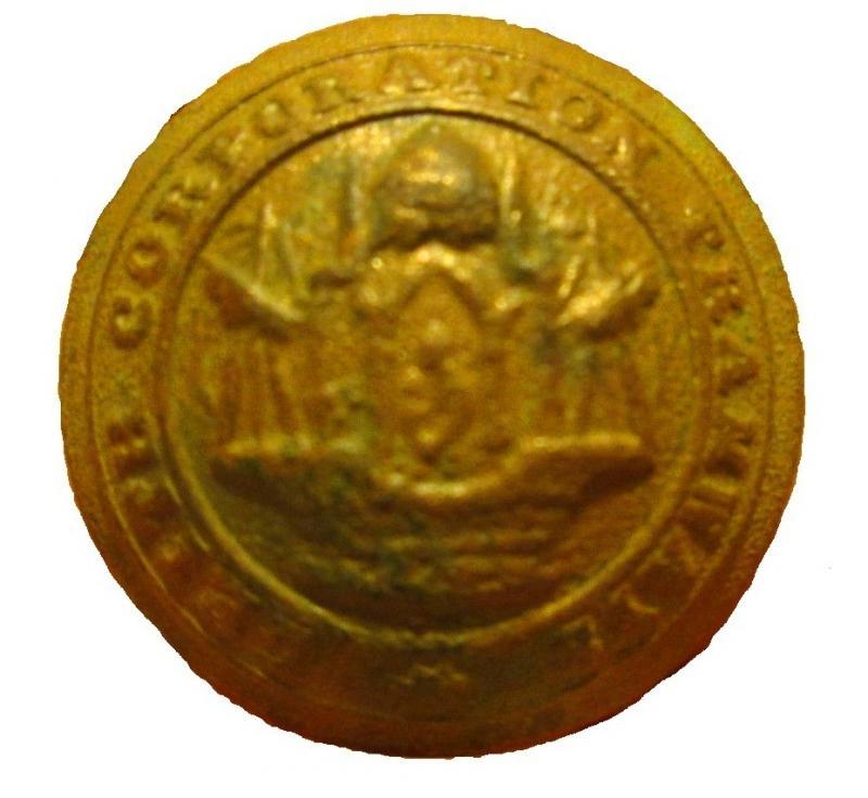 Leith Corporation Tramways Button