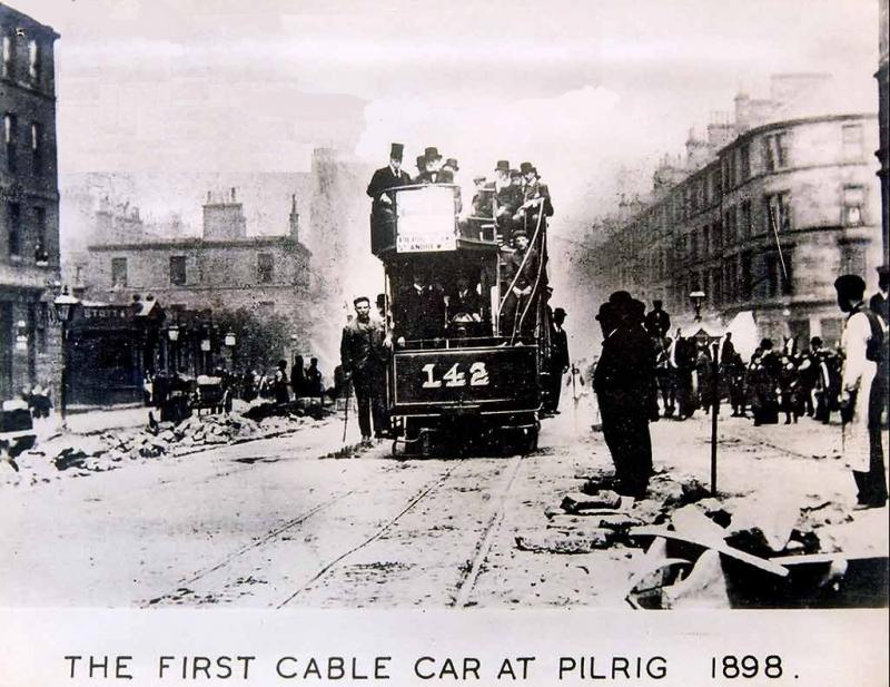 Cable Car at Pilrig Edinburgh Trams